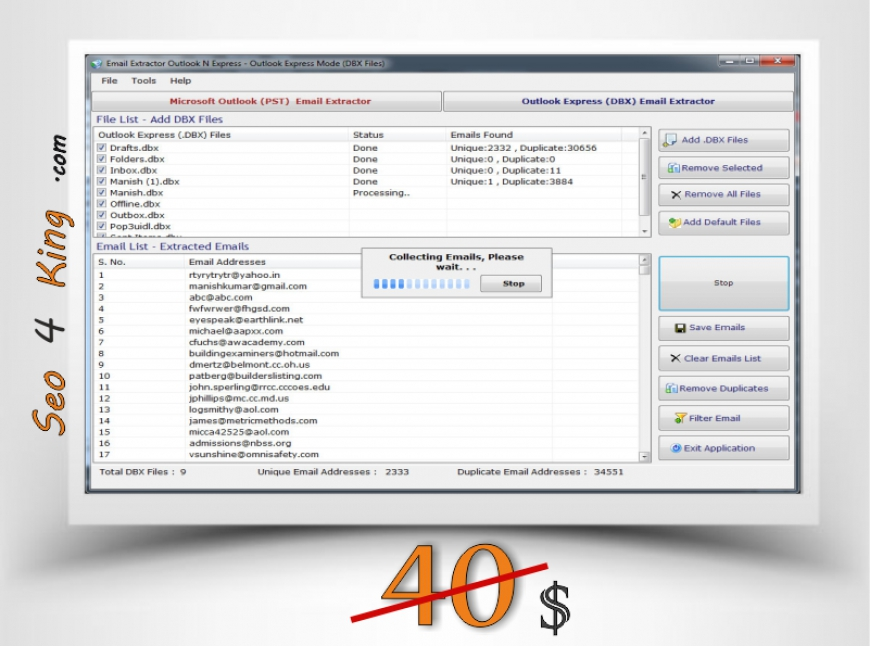 Email Extractor Outlook N Express 5.3